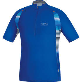 GORE RUNNING WEAR AIR PRINT Vetoketjullinen Paita Miehet, brilliant blue